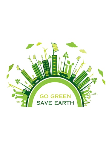 "Rawpockets""Go Green Save Earth""Wall posters (PaperBoard,33cmX48cm) - 15732138 - Standard Image - 1"