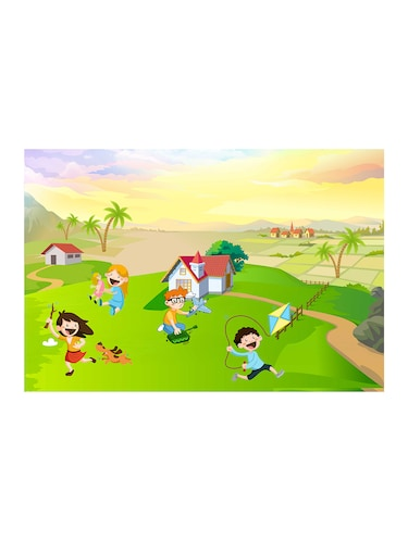 "Rawpockets""Kid's Play Wallpaper""Wall posters (PaperBoard,33cmX48cm) - 15732159 - Standard Image - 1"