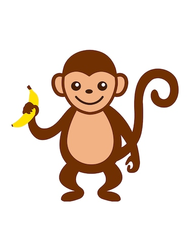 "Rawpockets""Monkey with Banana""Wall posters (PaperBoard,33cmX48cm) - 15732169 - Standard Image - 1"