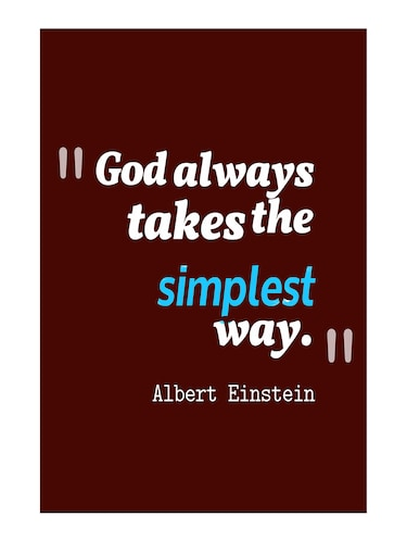 "Rawpockets""Albert Einstein Quote""Wall posters (PaperBoard,33cmX48cm) - 15732220 - Standard Image - 1"