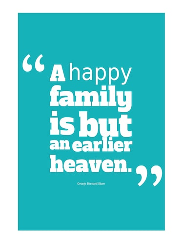 "Rawpockets""Happy Family Quote""Wall posters (PaperBoard,33cmX48cm) - 15732251 - Standard Image - 1"