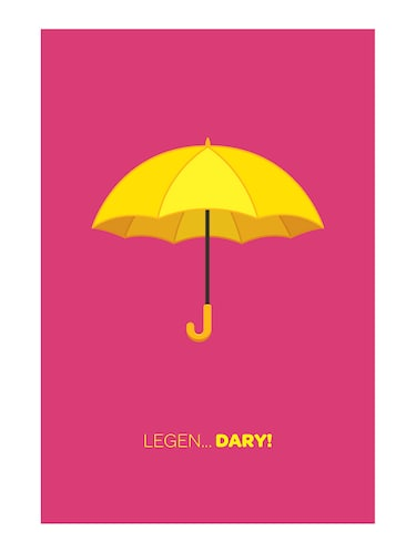 "Rawpockets""HIMYM Legendary Umbrella""Wall posters (PaperBoard,33cmX48cm) - 15732257 - Standard Image - 1"