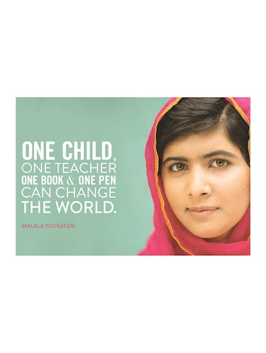 "Rawpockets""Malala Saying""Wall posters (PaperBoard,33cmX48cm) - 15732269 - Standard Image - 1"