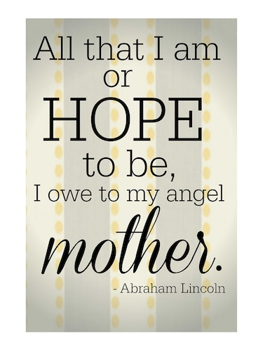 "Rawpockets""Mother Quote""Wall posters (PaperBoard,33cmX48cm) - 15732273 - Standard Image - 1"