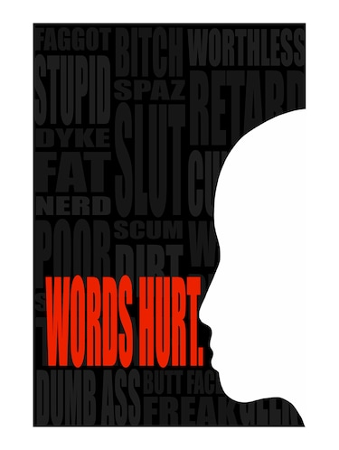"Rawpockets""Words Hurt""Wall posters (PaperBoard,33cmX48cm) - 15732313 - Standard Image - 1"