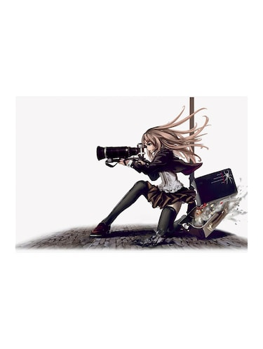 "Rawpockets""Anime Photographer Girl""Wall posters (PaperBoard,33cmX48cm) - 15732332 - Standard Image - 1"