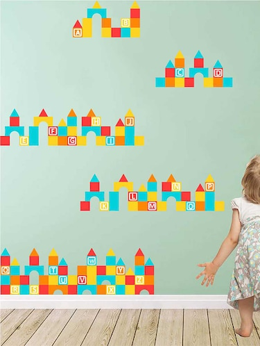 Rawpockets Wall Decals ' Albhapets '  Wall stickers (PVC Vinyl) Multicolour - 15733192 - Standard Image - 1
