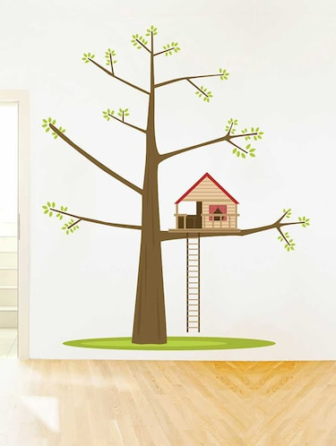 Rawpockets Wall Decals ' Tree House '  Wall stickers (PVC Vinyl) Multicolour - 15733193 - Standard Image - 1