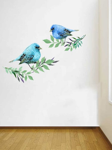 Rawpockets Wall Decals ' Lovely Birds Wall Sticker '  Wall stickers (PVC Vinyl) Multicolour - 15733201 - Standard Image - 1