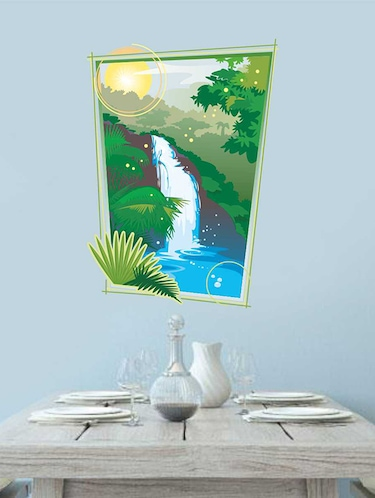 Rawpockets Wall Decals ' Nature Falls Wall Sticker '  Wall stickers (PVC Vinyl) Multicolour - 15733212 - Standard Image - 1