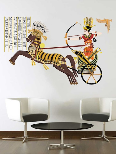 Rawpockets Wall Decals ' Ancient Egyptian Art Wall Sticker '  Wall stickers (PVC Vinyl) Multicolour - 15733222 - Standard Image - 1