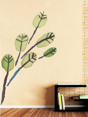 Rawpockets Wall Decals ' Brown Watercolor Leaf Wall Sticker '  Wall stickers (PVC Vinyl) Multicolour - 15733241 - Standard Image - 1