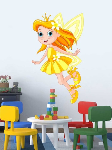 Rawpockets Wall Decals ' Golden Baby Angel Wall Sticker '  Wall stickers (PVC Vinyl) Multicolour - 15733255 - Standard Image - 1