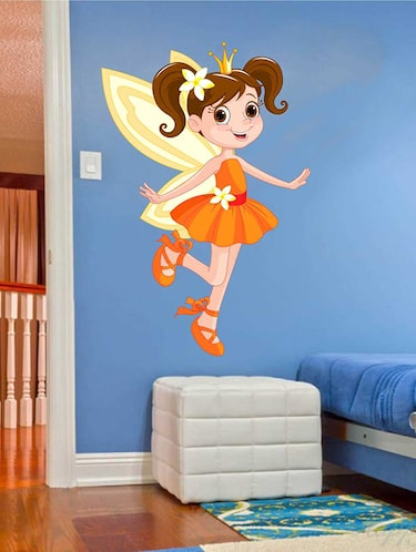 Rawpockets Wall Decals ' Kids Angel Wall Sticker '  Wall stickers (PVC Vinyl) Multicolour - 15733256 - Standard Image - 1
