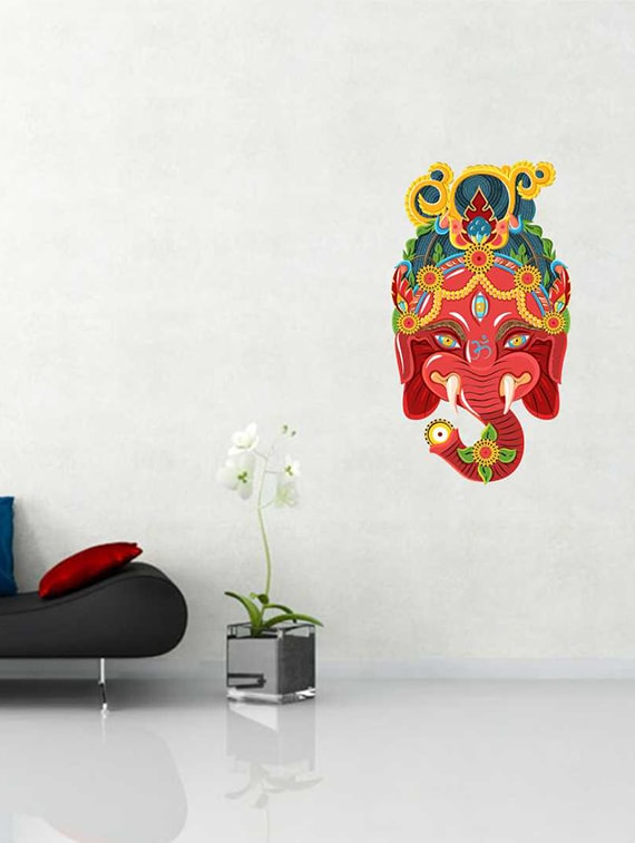 buy rawpockets wall decals ' colorful ganesha wall sticker ' wall