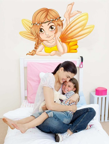 Rawpockets Wall Decals ' Angel Wall Sticker '  Wall stickers (PVC Vinyl) Multicolour - 15733267 - Standard Image - 1