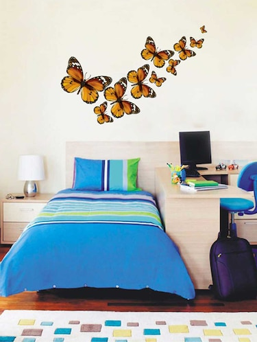 Rawpockets Wall Decals ' Butterfly Family Wall Sticker '  Wall stickers (PVC Vinyl) Multicolour - 15733306 - Standard Image - 1