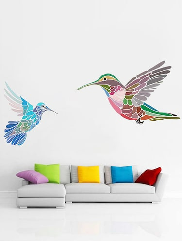 Rawpockets Wall Decals ' Multi Color Birds Wall Sticker '  Wall stickers (PVC Vinyl) Multicolour - 15733310 - Standard Image - 1