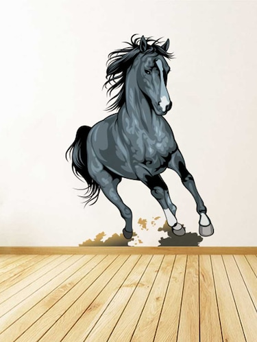 Rawpockets Wall Decals ' Running Horse Wall Sticker '  Wall stickers (PVC Vinyl) Multicolour - 15733311 - Standard Image - 1