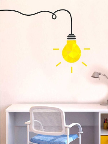 Rawpockets Wall Decals ' Enlighten Lamp Wall Sticker '  Wall stickers (PVC Vinyl) Multicolour - 15733323 - Standard Image - 1