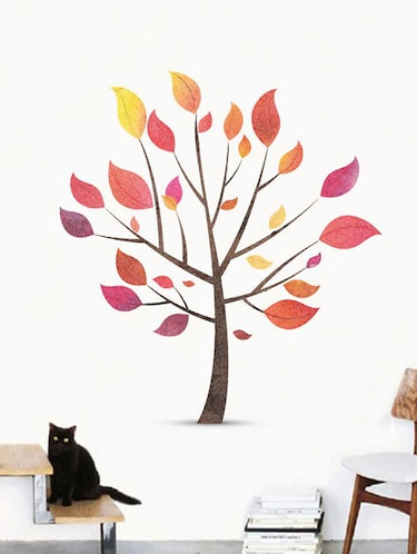Rawpockets Wall Decals ' Tree Wall Sticker '  Wall stickers (PVC Vinyl) Multicolour - 15733332 - Standard Image - 1
