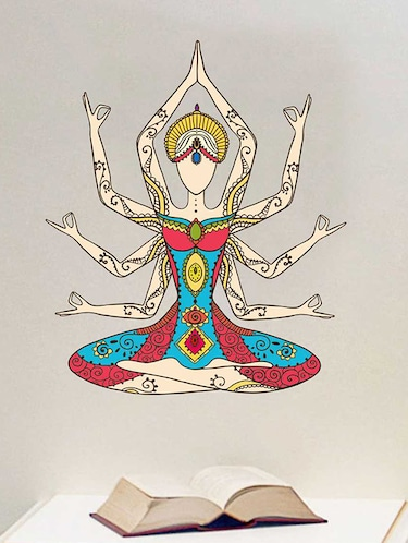 Rawpockets Wall Decals ' Kundalini Yoga Girl Wall Sticker '  Wall stickers (PVC Vinyl) Multicolour - 15733334 - Standard Image - 1