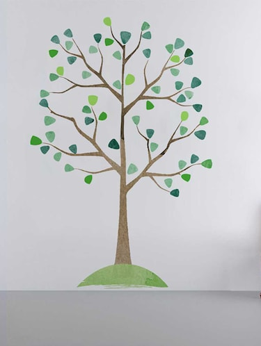 Rawpockets Wall Decals ' Watercolor Tree Wall Sticker '  Wall stickers (PVC Vinyl) Multicolour - 15733336 - Standard Image - 1