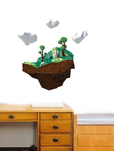 Rawpockets Wall Decals ' 3D Landscape Wall Sticker '  Wall stickers (PVC Vinyl) Multicolour - 15733337 - Standard Image - 1