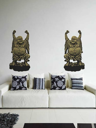 Rawpockets Wall Decals ' Laughing Buddha Wall Sticker '  Wall stickers (PVC Vinyl) Multicolour - 15733338 - Standard Image - 1