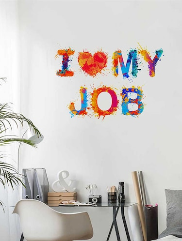 Rawpockets Wall Decals ' I Luv My Job Wall Sticker '  Wall stickers (PVC Vinyl) Multicolour - 15733347 - Standard Image - 1