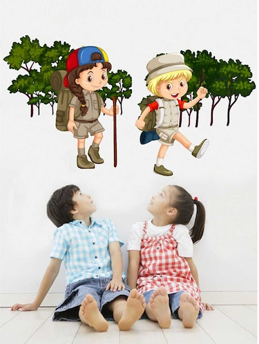 Rawpockets Wall Decals ' Kids Adventure Story Wall Sticker '  Wall stickers (PVC Vinyl) Multicolour - 15733356 - Standard Image - 1