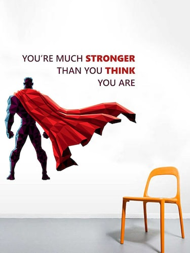 Rawpockets Wall Decals ' Be Stronger  Quote Wall Sticker '  Wall stickers (PVC Vinyl) Multicolour - 15733361 - Standard Image - 1