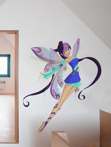Rawpockets Wall Decals ' Cute Girl Angel' Wall Decal Sticker '  Wall stickers (PVC Vinyl) Multicolour - 15733444 - Standard Image - 1