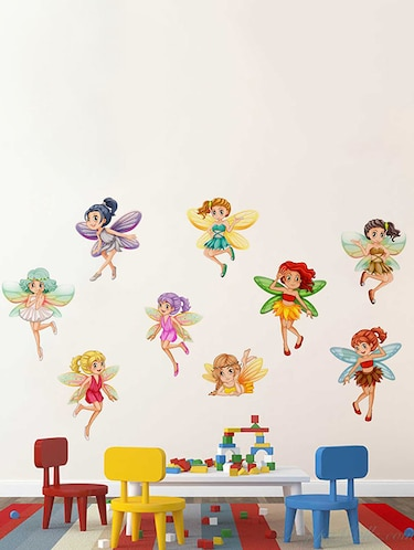Rawpockets Wall Decals ' Baby Angel Combo' Wall Decal Stickers '  Wall stickers (PVC Vinyl) Multicolour - 15733457 - Standard Image - 1