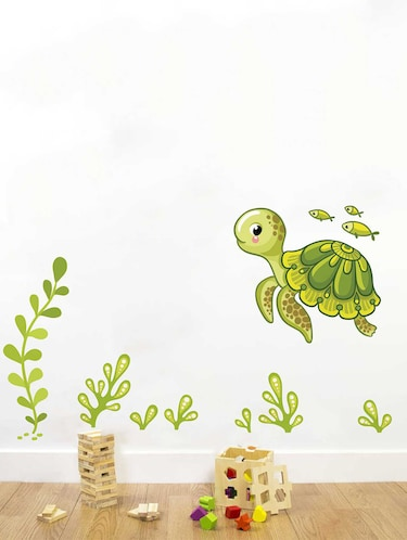 Rawpockets Wall Decals ' Under Water Story Wall Decal Sticker '  Wall stickers (PVC Vinyl) Multicolour - 15733469 - Standard Image - 1