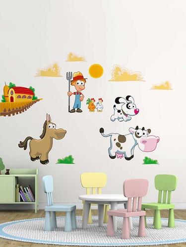 buy rawpockets wall decals ' farm animals' wall decal sticker ' wall