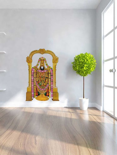 Rawpockets Wall Decals ' Lord Venkateswara '  Wall stickers (PVC Vinyl) Multicolour - 15733545 - Standard Image - 1