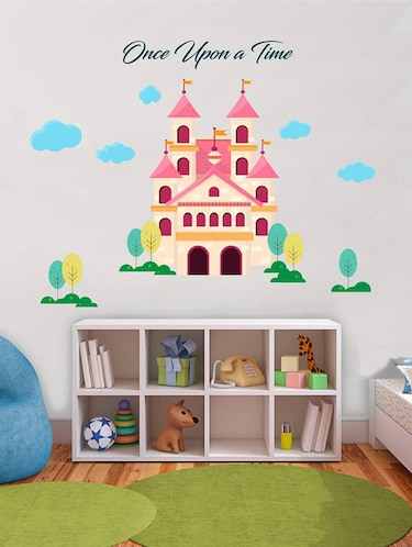 Rawpockets Wall Decals ' Once Upon a Time Castle '  Wall stickers (PVC Vinyl) Multicolour - 15733550 - Standard Image - 1