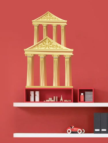 Rawpockets Wall Decals ' Roman Column Wall Sticker '  Wall stickers (PVC Vinyl) Multicolour - 15733588 - Standard Image - 1