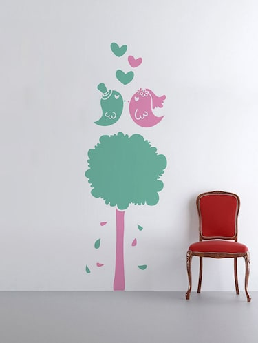 Rawpockets Wall Decals ' Tree n Love Birds '  Wall stickers (PVC Vinyl) Multicolour - 15733592 - Standard Image - 1