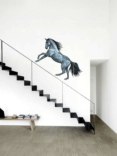 Rawpockets Wall Decals ' Wild Horse Wall Sticker '  Wall stickers (PVC Vinyl) Multicolour - 15733632 - Standard Image - 1