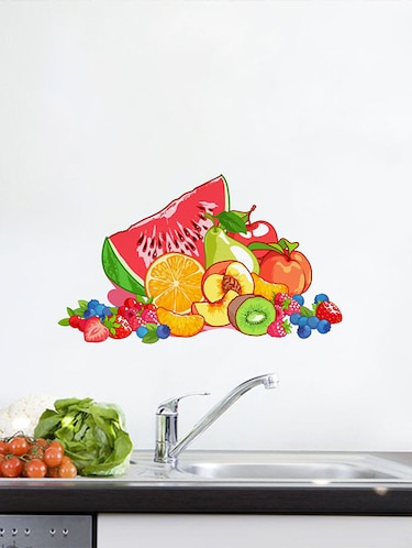 Rawpockets Wall Decals ' Fruits Wall Sticker '  Wall stickers (PVC Vinyl) Multicolour - 15733670 - Standard Image - 1