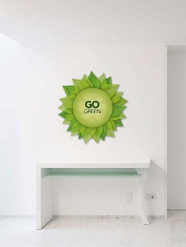 Rawpockets Wall Decals ' Go Green Wall Sticker '  Wall stickers (PVC Vinyl) Multicolour - 15733678 - Standard Image - 1