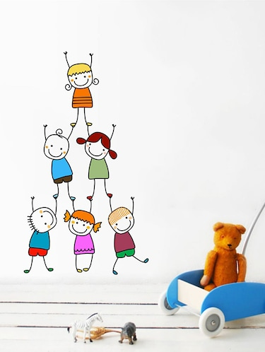 Rawpockets Wall Decals ' Kids Pencil Drawing Wall Sticker '  Wall stickers (PVC Vinyl) Multicolour - 15733687 - Standard Image - 1