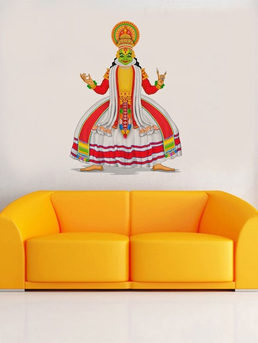 Rawpockets Wall Decals ' Kathakali Classical Dance Position Wall Sticker '  Wall stickers (PVC Vinyl) Multicolour - 15733711 - Standard Image - 1