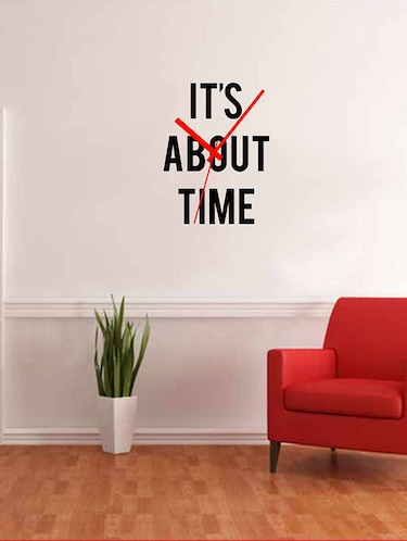 Rawpockets Wall Decals ' Its About time '  Wall stickers (PVC Vinyl) Multicolour - 15733771 - Standard Image - 1