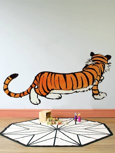 Rawpockets Wall Decals ' Calvin and Hobbes Tiger '  Wall stickers (PVC Vinyl) Multicolour - 15733785 - Standard Image - 1