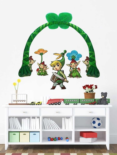 Rawpockets Wall Decals ' Cartoon Story '  Wall stickers (PVC Vinyl) Multicolour - 15733801 - Standard Image - 1