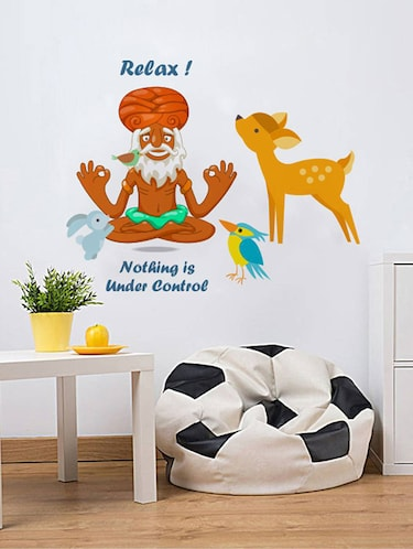 Rawpockets Wall Decals ' Relax - Nothinng under Control '  Wall stickers (PVC Vinyl) Multicolour - 15733803 - Standard Image - 1