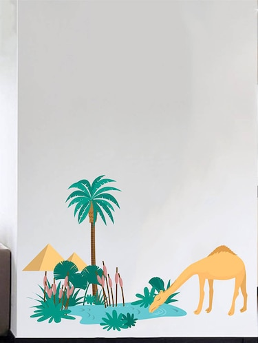 Rawpockets Wall Decals ' Desert Story and Camel '  Wall stickers (PVC Vinyl) Multicolour - 15733820 - Standard Image - 1